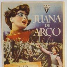 Cine: PROGRAMA DE MANO DE LA PELÍCULA JUANA DE ARCO.. Lote 258882275