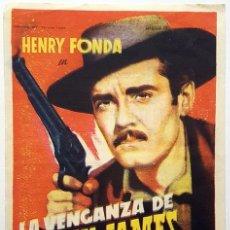 Cine: PROGRAMA DE MANO DE LA PELÍCULA LA VENGANZA DE FRANK JAMES.. Lote 258927945