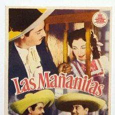 Cine: PROGRAMA DE MANO DE LA PELÍCULA LAS MAÑANITAS.. Lote 258928545