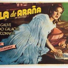 Cine: PROGRAMA DE MANO DE LA PELÍCULA TELA DE ARAÑA.. Lote 258936885