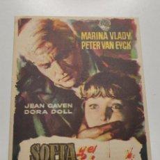 Folhetos de mão de filmes antigos de cinema: PROGRAMA DE CINE FOLLETO , SOFIA Y EL CRIMEN IRIS PARK 1958. Lote 259009530