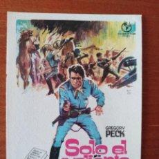 Folhetos de mão de filmes antigos de cinema: SOLO EL VALIENTE. Lote 259041090