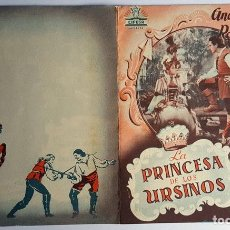 Cine: PROGRAMA DE MANO DÍPTICO DE LA PELÍCULA LA PRINCESA DE LOS URSINOS.. Lote 259237115