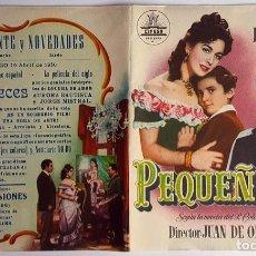 Cine: PROGRAMA DE MANO DÍPTICO DE LA PELÍCULA PEQUEÑECES.. Lote 259238555