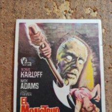 Folhetos de mão de filmes antigos de cinema: FOLLETO DE MANO DE LA PELÍCULA EL MONSTRUO DEL TERROR. Lote 259748125