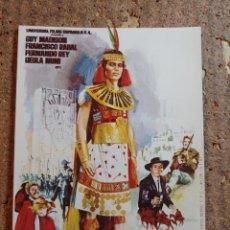 Folhetos de mão de filmes antigos de cinema: FOLLETO DE MANO DE LA PELÍCULA EL ULTIMO REY DE LOS INCAS. Lote 259748465