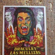 Folhetos de mão de filmes antigos de cinema: FOLLETO DE MANO DE LA PELÍCULA DRACULA Y LAS MELLIZAS. Lote 259748695