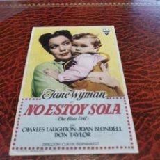 Folhetos de mão de filmes antigos de cinema: PROGRAMA DE MANO ORIG - NO ESTOY SOLA - CON CINE DE RUTE IMPRESO AL DORSO. Lote 259961125