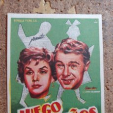 Cine: FOLLETO DE MANO DE LA PELICULA JUEGO DE NIÑOS CON PUBLICIDAD. Lote 259999080