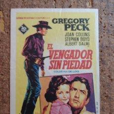 Cine: FOLLETO DE MANO DE LA PELICULA EL VENGADOR SIN PIEDAD CON PUBLICIDAD. Lote 260044155