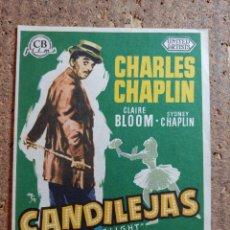 Cine: FOLLETO DE MANO DE LA PELICULA CANDILEJAS CON PUBLICIDAD. Lote 260059530