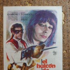 Cine: FOLLETO DE MANO DE LA PELICULA EL ALCON DE CASTILLA CON PUBLICIDAD. Lote 260060565