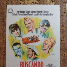 Cine: FOLLETO DE MANO DE LA PELÍCULA BUSCANDO MILLONARIO CON PUBLICIDAD. Lote 260061655