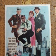 Cine: FOLLETO DE MANO DE LA PELÍCULA 4 GANGSTERS DE CHICAGO CON PUBLICIDAD. Lote 260062075