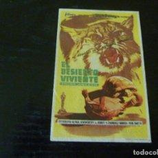 Folhetos de mão de filmes antigos de cinema: PROGRAMA DE CINE IMPRESO EN LA PARTE TRASERA. Lote 260328805