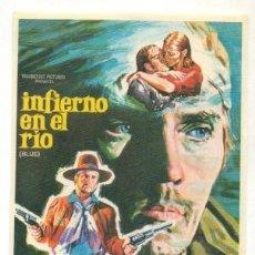 Cine: INFIERNO EN EL RIO - PROGRAMA ORIGINAL SIN PUBLICIDAD - IMPECABLE. Lote 260363470