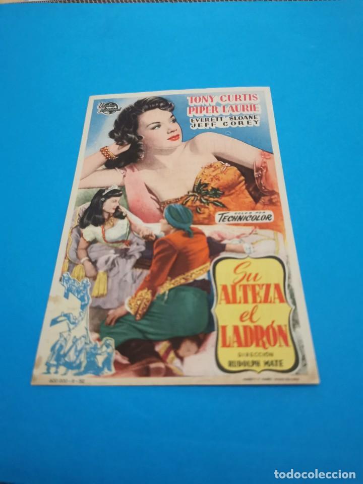 PROGRAMA DE MANO ORIG - SU ALTEZA EL LADRÓN - CON CINE DE RUTE IMPRESO AL DORSO (Cine - Folletos de Mano - Aventura)