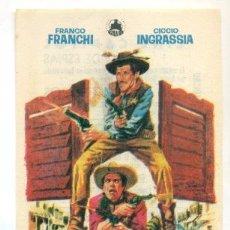 Cine: DOS PISTOLEROS - PROGRAMA ORIGINAL CON PUBLICIDAD - IMPECABLE. Lote 260390000