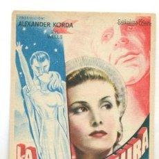 Cine: VIDA FUTURA - PROGRAMA ORIGINAL CON PUBLICIDAD - IMPECABLE. Lote 260390275