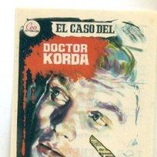Cine: CASO DEL DOCTOR KORDA , EL - PROGRAMA ORIGINAL CON PUBLICIDAD - IMPECABLE. Lote 260399820