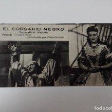 Cine: TARJETA DE CINE Nº 140 EL CORSARIO NEGRO. Lote 260439575