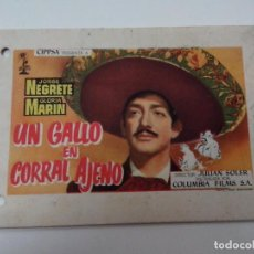 Cine: CATALOGO DE CINE UN GALLO EN CORRAL AJENO 11X16 CM VER FOTOGRAFIAS. Lote 260440255