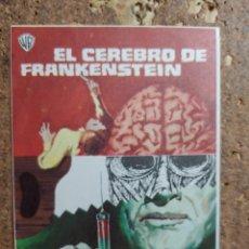 Cine: FOLLETO DE MANO DE LA PELÍCULA EL CEREBRO DE FRANKENSTEIN. Lote 260449455