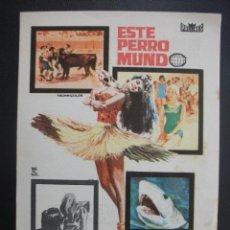 Cine: ESTE PERRO MUNDO, GRAN CINEMA DE SANTANDER. Lote 260472195