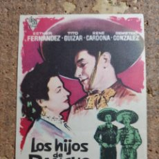 Cine: FOLLETO DE MANO DE LA PELICULA LOS HIJOS DE RENCHO GRANDE. Lote 260512095