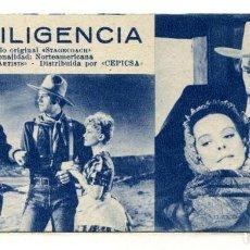 Cine: LA DILIGENCIA, CON JOHN WAYNE. FICHA Nº 142.. Lote 260575500