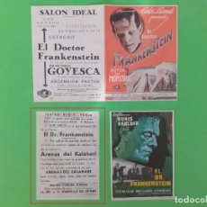 Cine: EL DOCTOR FRANKENSTEIN - BORIS KARLOFF - FOLLETOS ORIGINALES. Lote 260591360