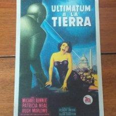 Cine: PROGRAMA DE CINE. ULTIMATUM A LA TIERRA, SOLIGO, PUBLICIDAD AL DORSO. Lote 260591940