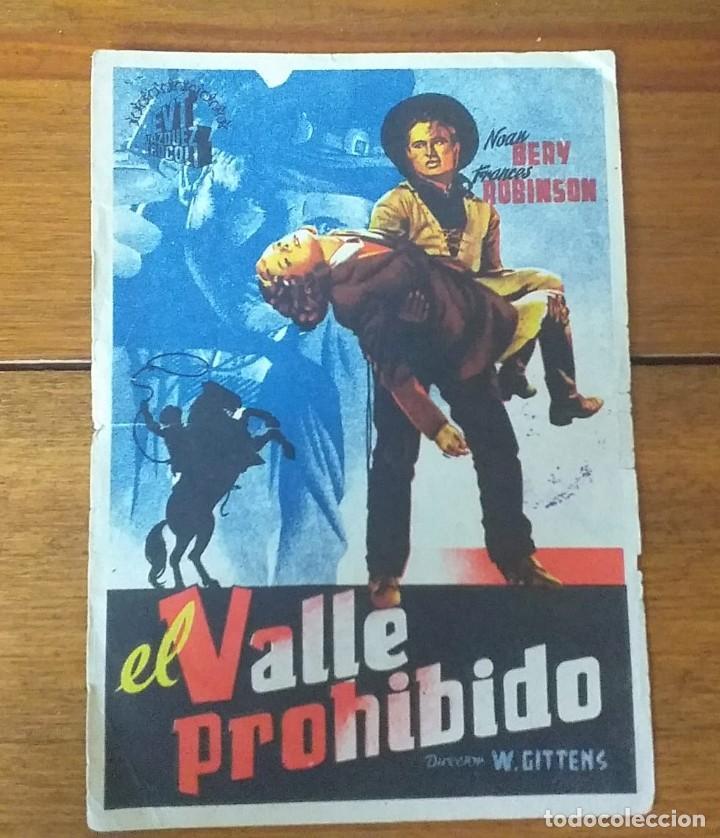 PROGRAMA DE CINE. EL VALLE PROHIBIDO (Cine - Folletos de Mano - Westerns)