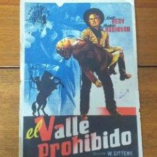 Cine: PROGRAMA DE CINE. EL VALLE PROHIBIDO. Lote 260593285