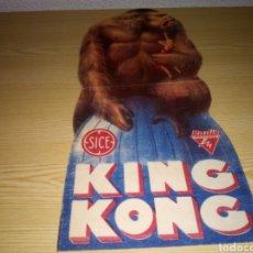 Cine: ANTIGUO PROGRAMA DE CINE TROQUELADO ORIGINAL. KING KONG. CON PUBLICIDAD TEATRO MODERNO. 1935. Lote 260607415