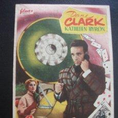 Folhetos de mão de filmes antigos de cinema: LA SUERTE ESTA ECHADA, DANE CLARK, CINE TEATRO CARMEN. Lote 260639070