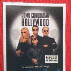 Cine: FOLLETO DE MANO. PELICULA: COMO CONQUISTAR HOLLYWOOD. CON JOHN TRAVOLTA Y GENE HACKMAN. Lote 260706205