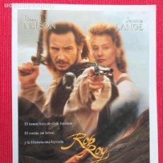 Cine: FOLLETO DE MANO. PELICULA: ROB ROY. CON : LIAM NEESON & JESSICA LANGE. Lote 260713625