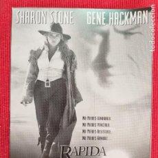 Cine: FOLLETO DE MANO: RAPIDA Y MORTAL. SHARON STONE, GENE HACKMAN, LEONARDO DICAPRIO. Lote 260785170
