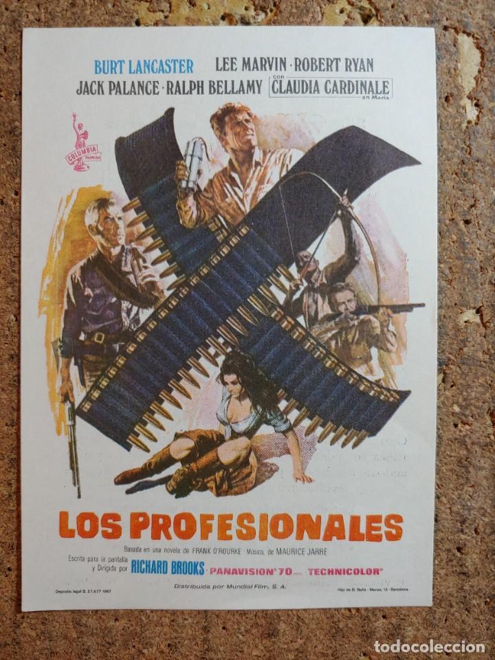 FOLLETO DE MANO DE LA PELICULA LOS PROFESIONALES CON PUBLICIDAD (Cine - Folletos de Mano - Acción)
