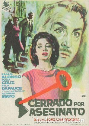 CERRADO POR ASESINATO (CON PUBLICIDAD) (Cine - Folletos de Mano - Clásico Español)