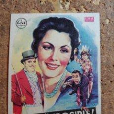 Folhetos de mão de filmes antigos de cinema: FOLLETO DE MANO DE LA PELICULA VIVA LO IMPOSIBLE. Lote 261234955
