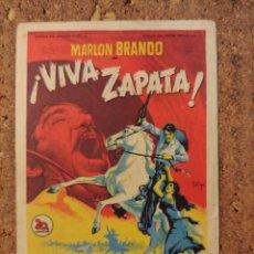 Cine: FOLLETO DE MANO DE LA PELICULA VIVA ZAPATA CON PUBLICIDAD. Lote 261285475