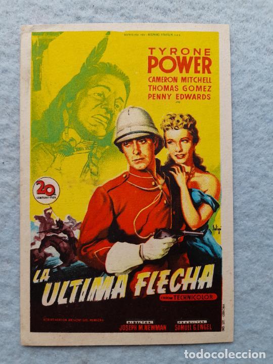 LA ÚLTIMA FLECHA. TYRONE POWER, CAMERON MITCHELL, THOMAS GOMEZ, PENNY EDWARDS (Cine - Folletos de Mano - Westerns)