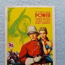 Folhetos de mão de filmes antigos de cinema: LA ÚLTIMA FLECHA. TYRONE POWER, CAMERON MITCHELL, THOMAS GOMEZ, PENNY EDWARDS. Lote 261360795