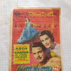 Cine: FOLLETO DE MANO VALS REAL , AÑO 1957. Lote 261807565