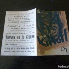Cine: PROGRAMA DE CINE IMPRESO EN LA PARTE TRASERA. Lote 261919085