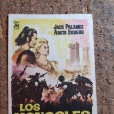 Cine: FOLLETO DE MANO DE LA PELÍCULA LOS MONGOLES. Lote 262024250