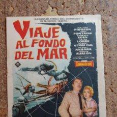 Cine: FOLLETO DE MANO DE LA PELÍCULA VIAJE AL FONDO DEL MAR. Lote 262024345