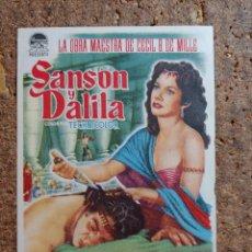 Cine: FOLLETO DE MANO DE LA PELÍCULA SANSÓN Y DALILA. Lote 262025165